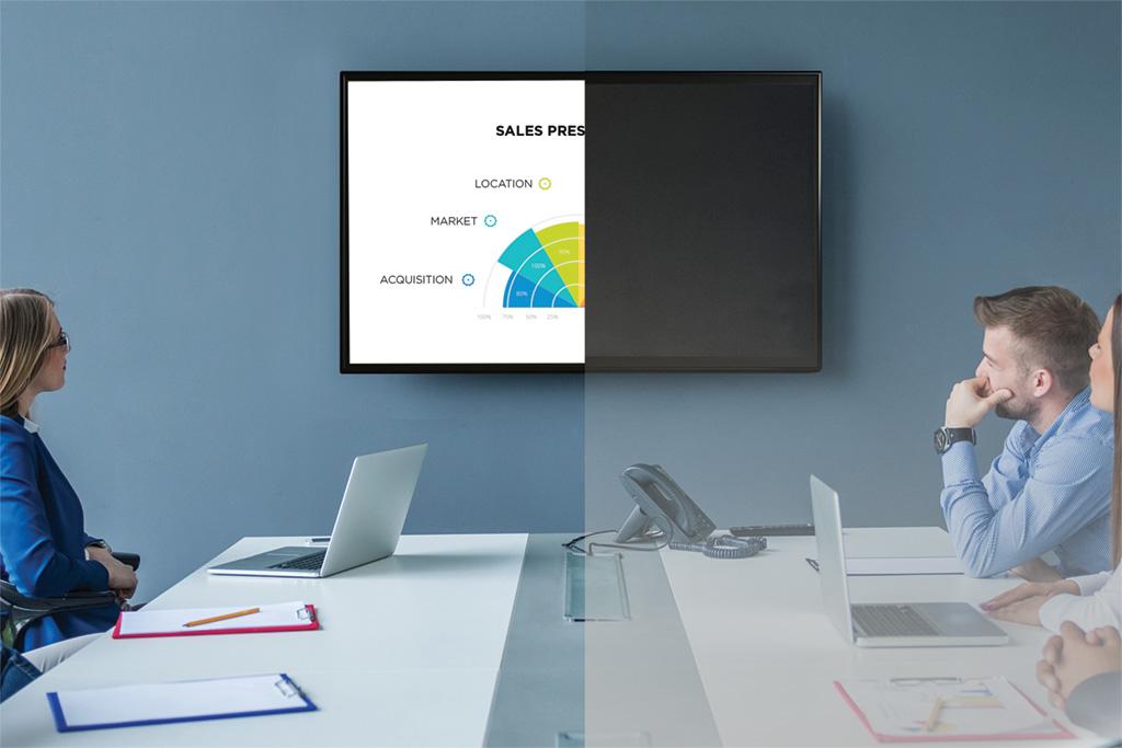 SBO Folie macht den Bildschirm im Meeting zur Hälfte schwarz